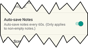 Auto Save Notes Option