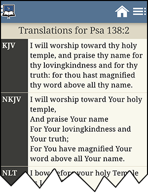 Verse chosen for comparing translations