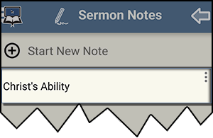 Sermon Note Example