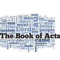 The Book of Acts - Word Cloud