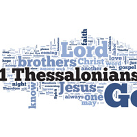 1 Thessalonians - Word Cloud