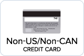 Credit Card - Neither US nor Canada