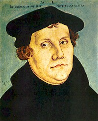 Martin Luther - Portrait by Lucas Cranach the Elder, 1529